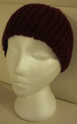 Woolen winter toque - Maroon