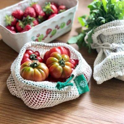 4er Set (Größe M), Einkaufsnetze aus Bio-Baumwolle // Farbe wählbar