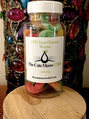 Gourmet CBD Sour Gummy Worms