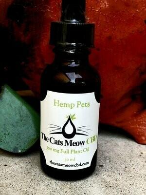 Hemp Pets 500 mg Full Plant Oil (up to 85 lbs*)