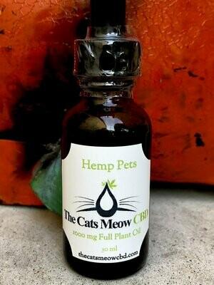 Hemp Pets 1000 mg Full Plant Oil (85 + lbs*)