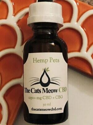Hemp Pets CBD + CBG 1250 mg (85+ lbs*) - Unflavored