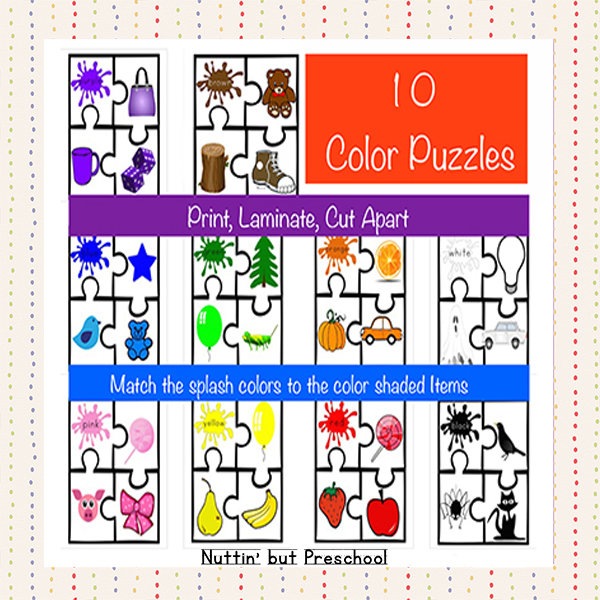 10 Color Puzzles For Learning Colors