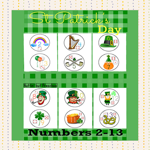 St Patricks Day Numbers 2-13