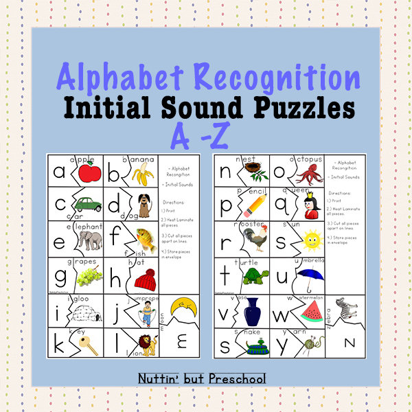 A-Z Initial Sound Puzzles