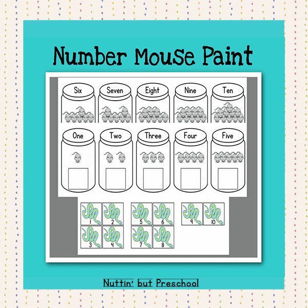 Mouse Paint – Numbers 1-10 – Mice & Snakes
