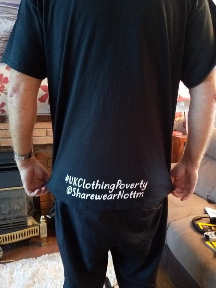 Sharewear 'nothing to wear' campaign t-shirt