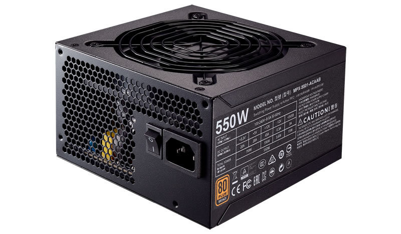 Cooler Master Power Supply MWE Bronze 550  MPX-5501-ACAAB-UK
