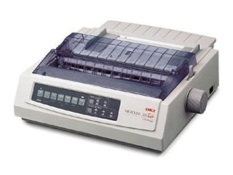 OKI 9 Pin Dot Matrix Printer ML320T Plus (c/w Power Cord & USB Cable)