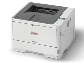 OKI Mono Printer B412dn (c/w Power Cord & USB Cable)
