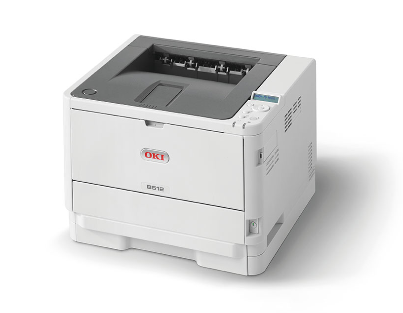 OKI Mono Printer B512dn (c/w Power Cord & USB Cable)