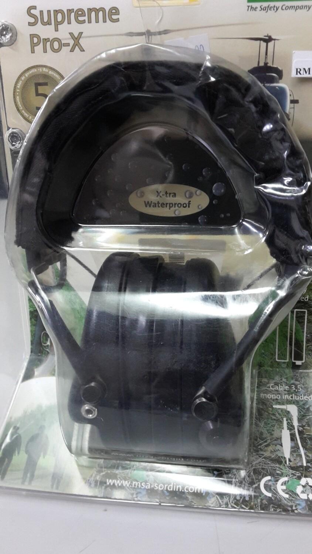 MSA Sordin  Supreme Pro X - Black Fabric Band, Black Cups 75302-X-02
