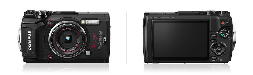 Olympus Compact Digital Camera Tough TG-5 (Free Case + 16GB Memory Card)