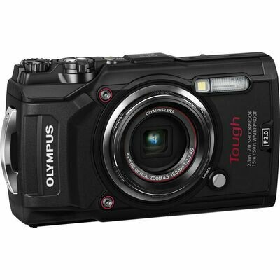 Olympus Compact Digital Camera Tough TG-5 (Free Case + 16GB Memory Card)