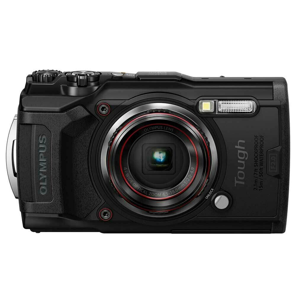 Olympus Compact Digital Camera TG-6 (Free 16GB Memory Card)