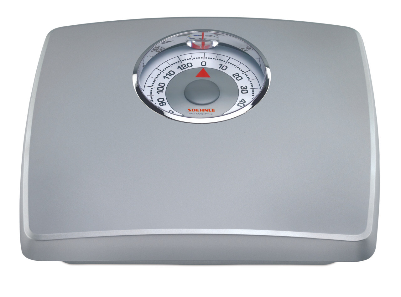 Soehnle Loupe Silver Analog Bathroom Personal Scale 61351