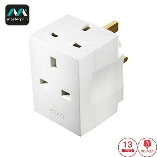 Masterplug 3 Socket 13A Fused Adapter (MSF3-MP)