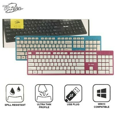 TCSTAR Wired USB Chocolate Keyboard K518