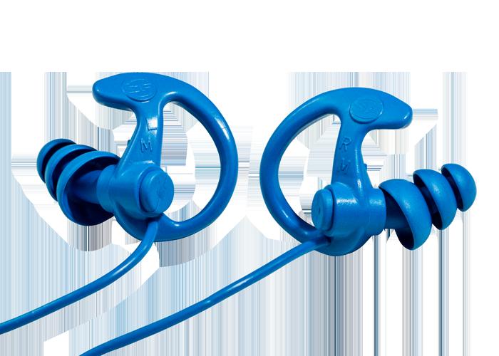Surefire EP9 Sonic Defenders® Cobalt Max Full-Block Flanged Earplugs