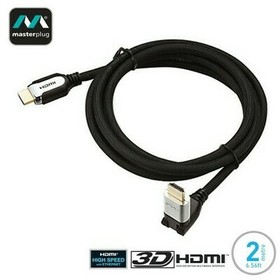 Masterplug HDMI Male to HDMI Male High Performance Adjustable 2M Cable HPHDMIA2-MP