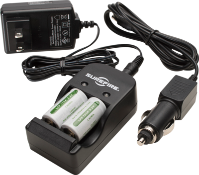 Surefire SF2R Charging Kit Battery Charger + Two LFP 123A Batteries