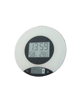Scalematic Digital Kitchen Scale With Clock M-100