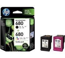 HP 680 2-Pack Black/Tri-color Original Ink Advantage Cartridges