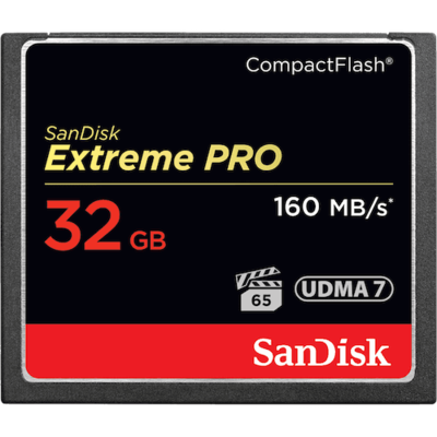 SanDisk Extreme PRO® CompactFlash® 160MB/s 32GB Memory Card