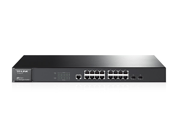 TP-Link JetStream 16-Port Gigabit L2 Managed Switch with 2 Combo SFP Slots  TL-SG3216