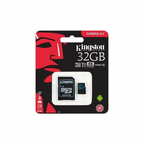 Kingston Canvas Go! Class 10 UHS-I U3 microSDHC/SDXC 32GB