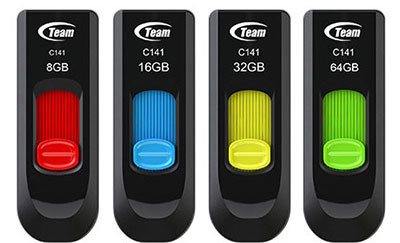 Team C141 USB 2.0 16GB Flash Drive