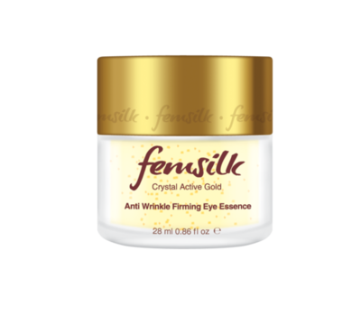 Femsilk Crystal Active Gold Anti Wrinkle Firming Eye Essence, Net Volume 28 ml / 0.86 fl oz.
