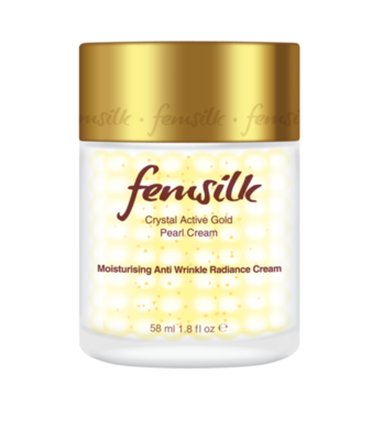 Femsilk Crystal Active Gold Pearl Moisturising Anti Wrinkle Radiance Cream, Net Volume 58ml / 1.8 fl oz.