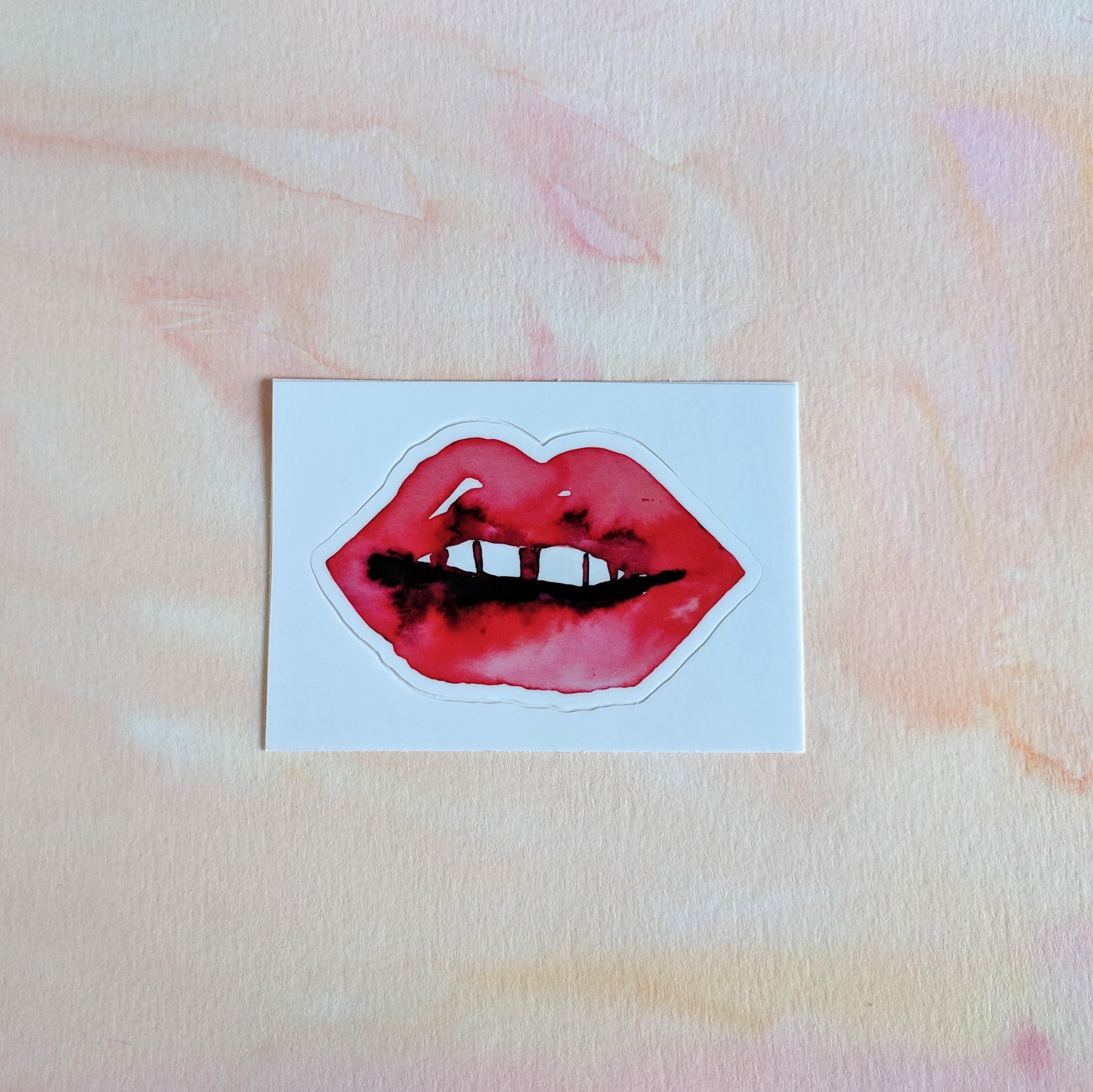 Watercolor Lips - Durable Vinyl Sticker 00012