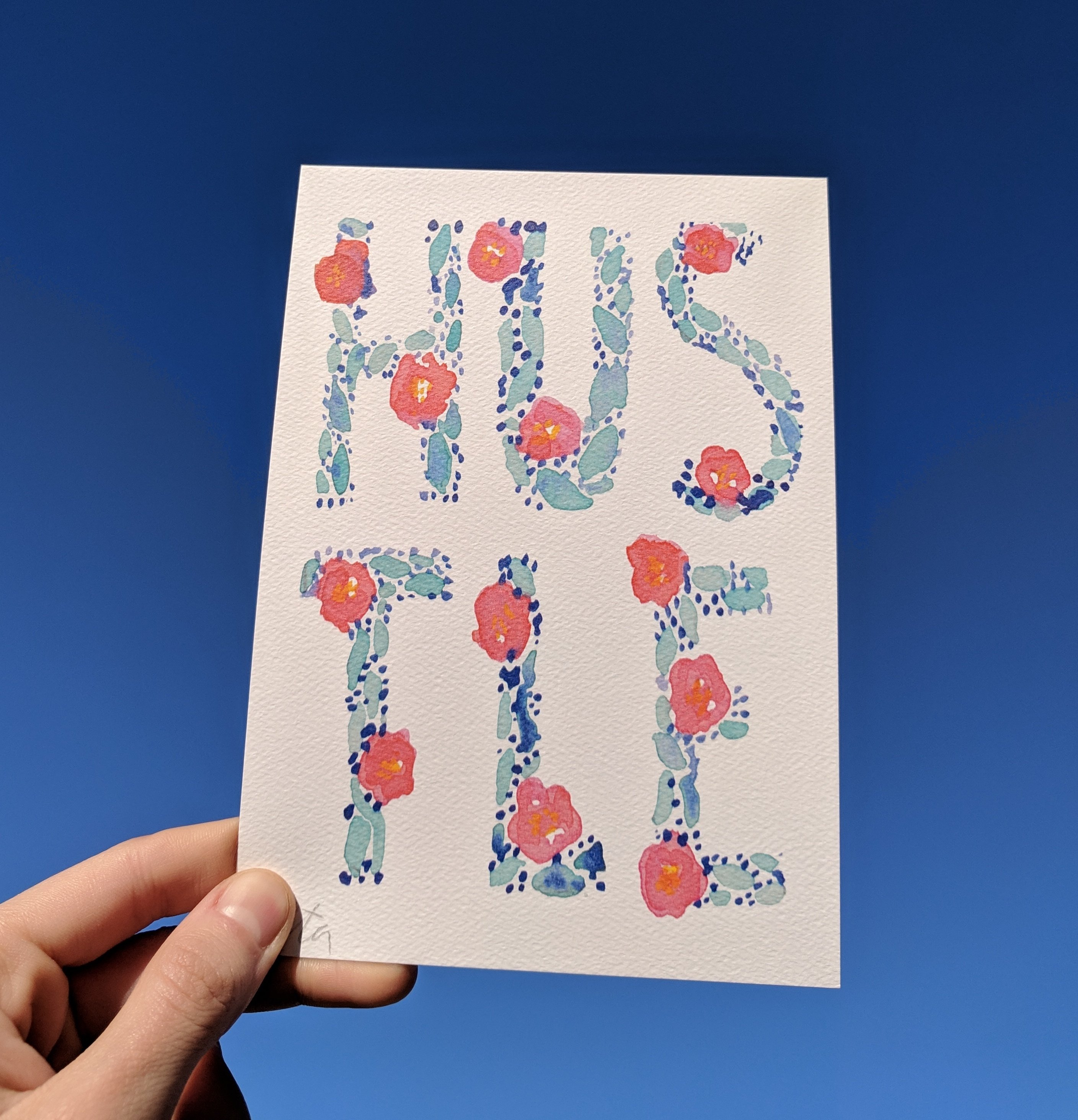 HUSTLE - Limited Edition Watercolor Art Print