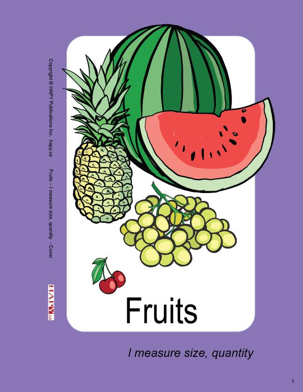 Fruits - I measure size, quantity