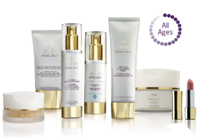 Jafra Royal Jelly RITUAL Deluxe Set + Royal jelly Global Longevity Cream travel size Cadeau