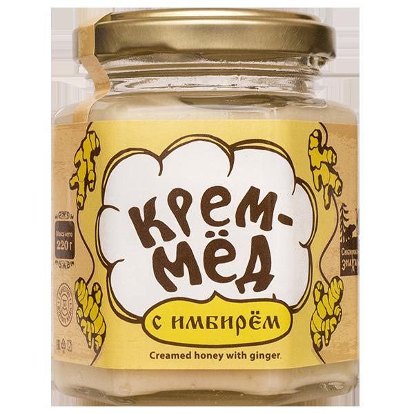 Крем-мёд с имбирём, 220г