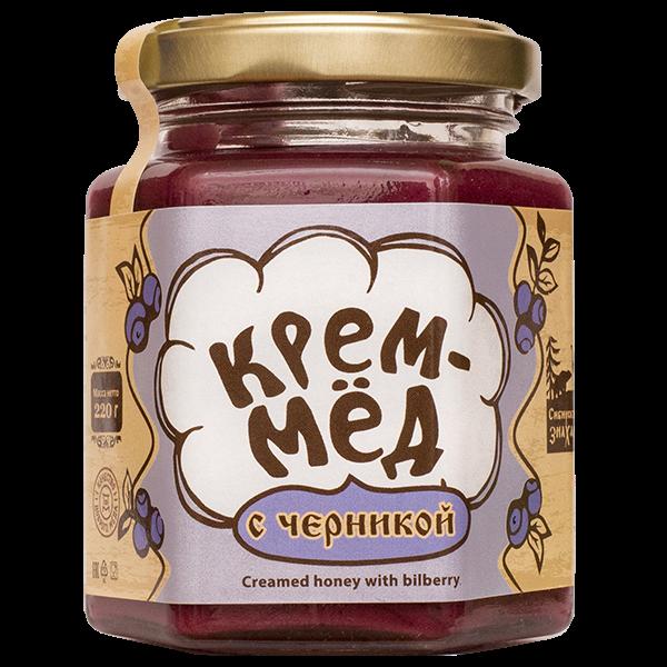 Крем-мёд с черникой, 220г