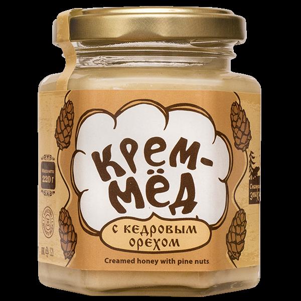 Крем-мёд с кедровым орехом, 220г