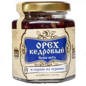Орех кедровый в сиропе из черники, 220г