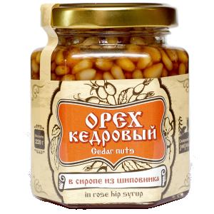 Орех  кедровый в сиропе из шиповника, 220 г