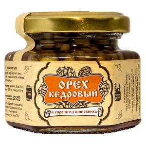 Орех  кедровый в сиропе из шиповника, 110 г