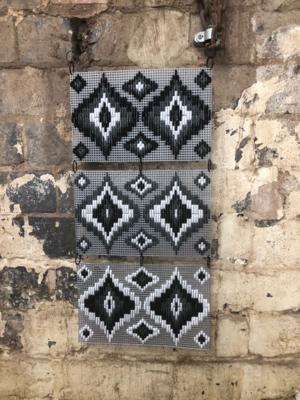 Multi Mural - Bargello Wall Hanging Kit - Monotone