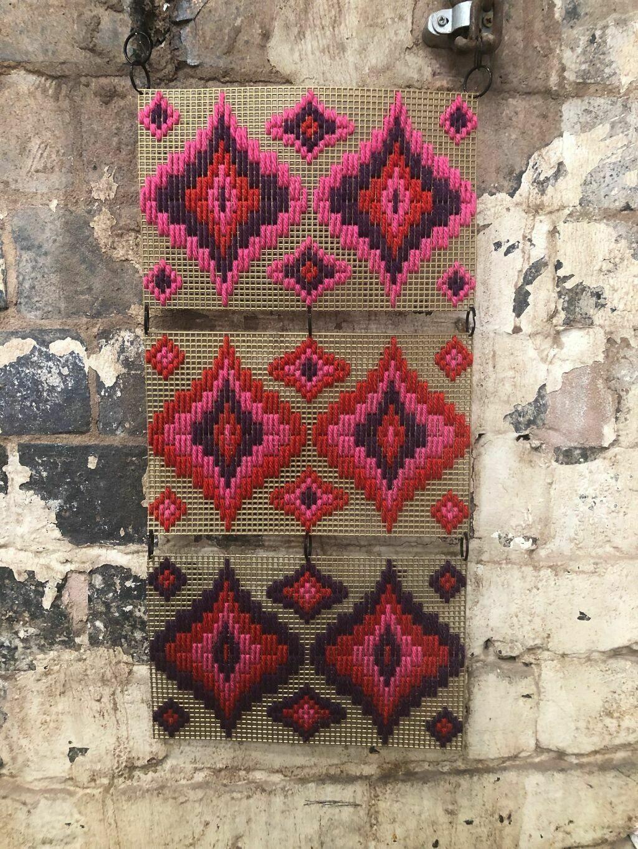 Multi Mural - Bargello Wall Hanging Kit - Pink Paradise