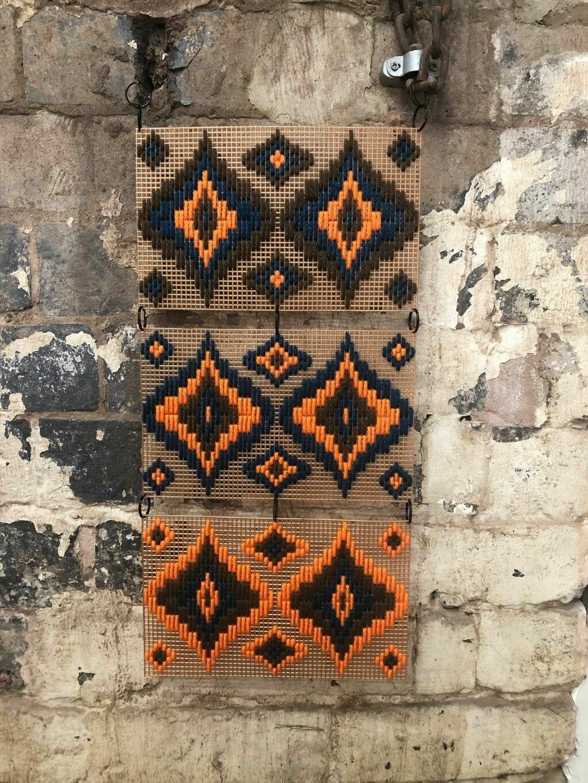 Multi Mural - Bargello Wall Hanging Kit - Orange Please