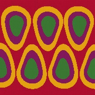 Scandi Eggs (Red) - Tapestry Needlepoint Kit