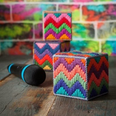 Beat Box - Bargello Kit, Stereo Colourway