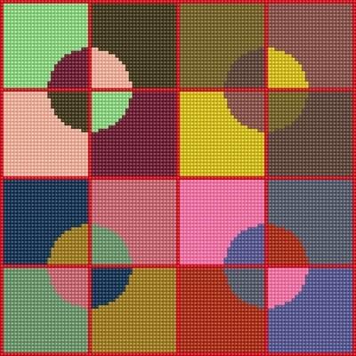 Use Your Stash - Circle Carpet - Stitch Chart
