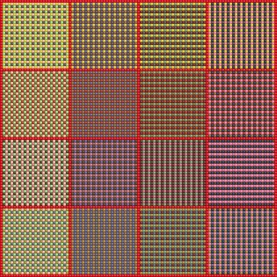 Use Your Stash - Weave - Stitch Chart